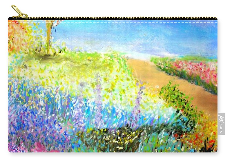 Landscape Carry-all Pouch featuring the print Patricia's Pathway by Melinda Etzold