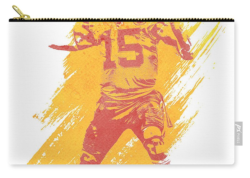 947ed5b4bad Patrick Mahomes Carry-all Pouch featuring the mixed media Patrick Mahomes  Kansas City Chiefs Water