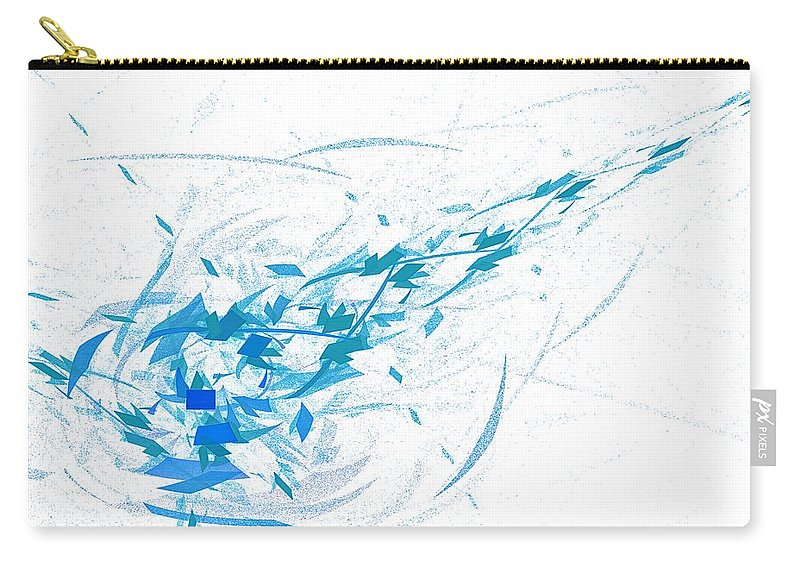 Abstract Carry-all Pouch featuring the digital art Patrick's Comet by Burtram Anton