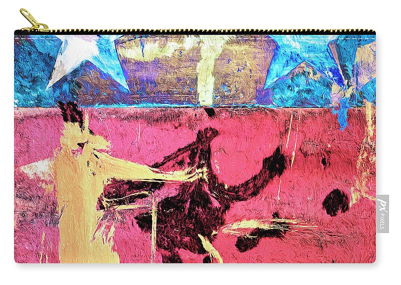 Abstract Carry-all Pouch featuring the painting Patriot Act by Dominic Piperata