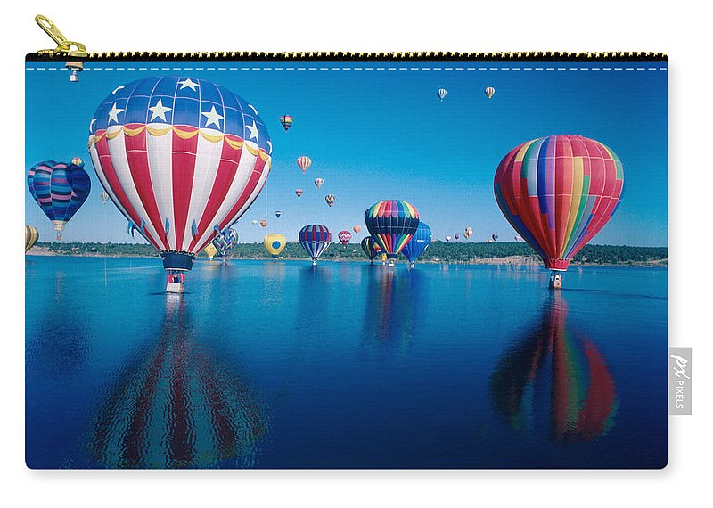 Hot Air Balloons Carry-all Pouch featuring the photograph Patriotic Hot Air Balloon by Jerry McElroy