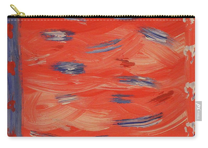 Red Carry-all Pouch featuring the painting Patriotic by Jennifer C Griffen