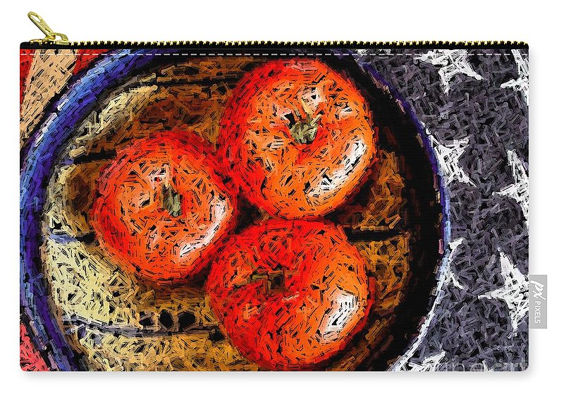 Digital Art Carry-all Pouch featuring the mixed media Patriotic Still by Ron Bissett