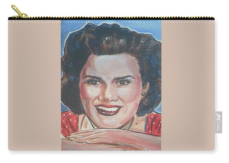Patsy Cline Carry-all Pouch featuring the painting Patsy Cline by Bryan Bustard