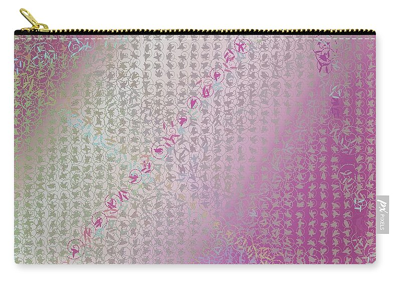 Pattern 112 Carry-all Pouch featuring the digital art Pattern 112 by Marko Sabotin