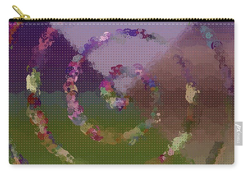 Pattern 114 Carry-all Pouch featuring the digital art Pattern 114 by Marko Sabotin
