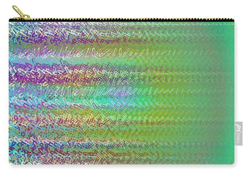 Pattern 117 Carry-all Pouch featuring the digital art Pattern 117 by Marko Sabotin