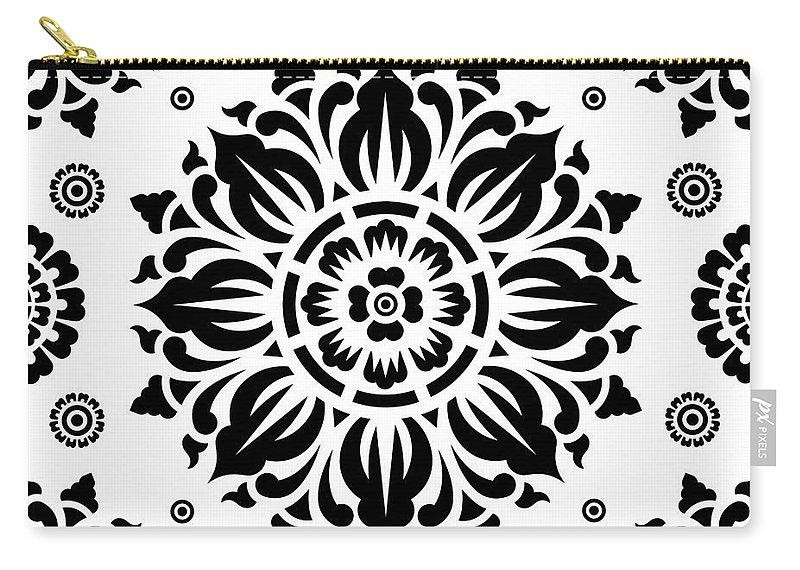 Pattern Art Carry-all Pouch featuring the digital art Pattern Art 01-2 by Bobbi Freelance