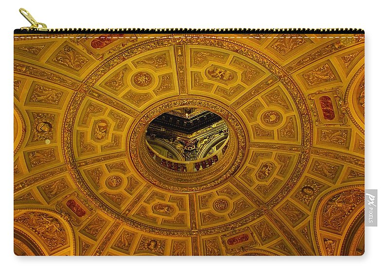 Ceiling Carry-all Pouch featuring the photograph Pattern by Ian MacDonald