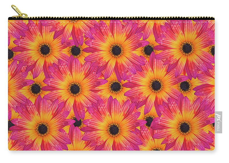 Flower Carry-all Pouch featuring the photograph Pattern Of African Daisies by Sheila Fitzgerald