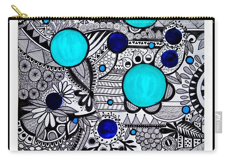 Pen And Ink Carry-all Pouch featuring the photograph Patterned by Madhurima Mukherjee