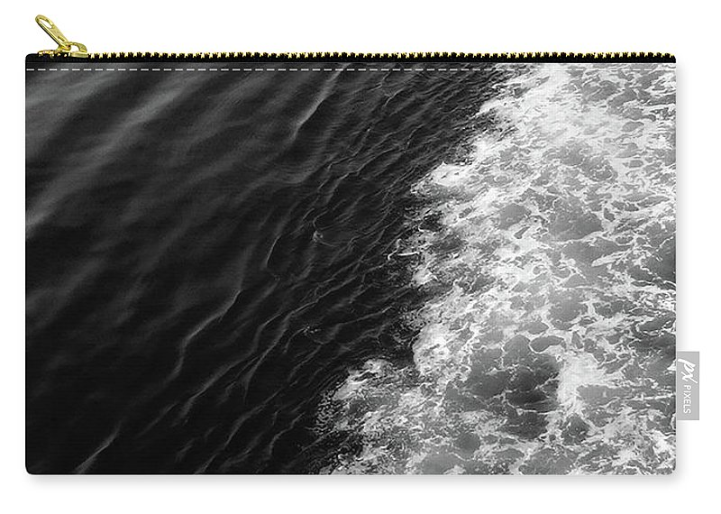 Black And White Carry-all Pouch featuring the photograph Patterns In The Sea by Erin Donalson