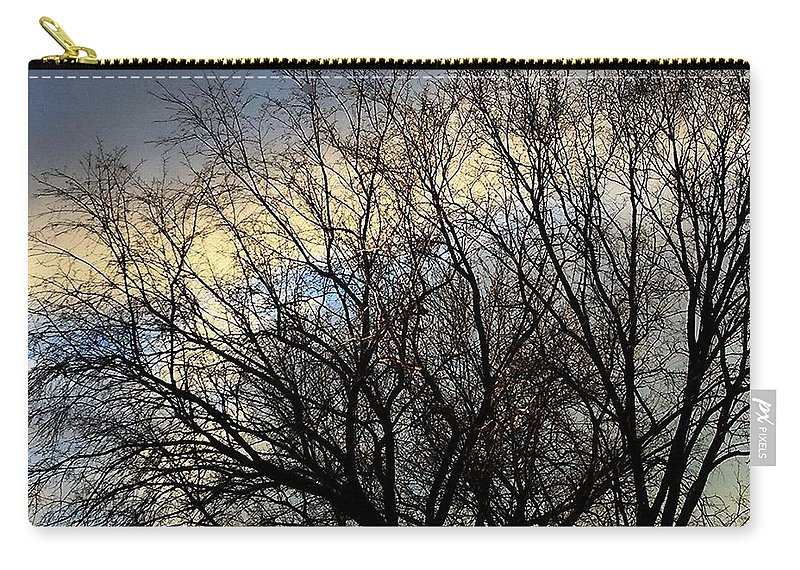 Fankjcasella Carry-all Pouch featuring the photograph Patterns In The Sky by Frank J Casella