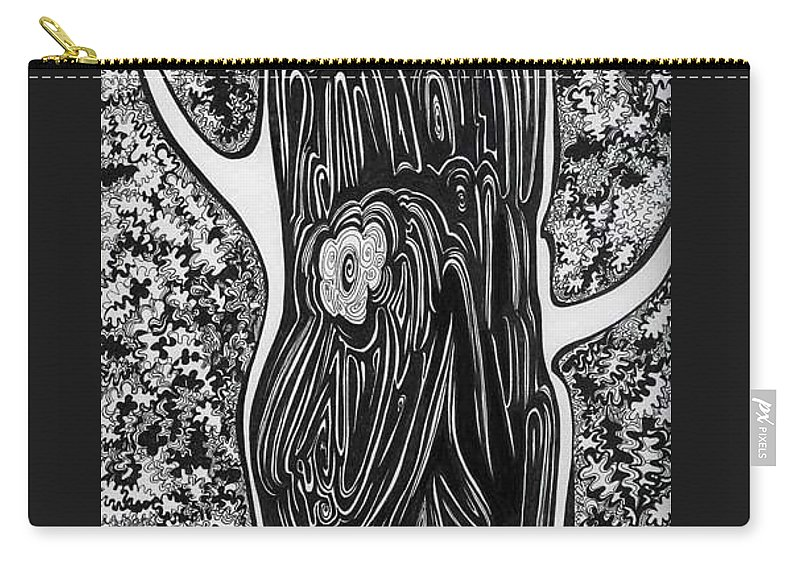 Trees Carry-all Pouch featuring the drawing Patterns Of Autumn by Anna Duyunova