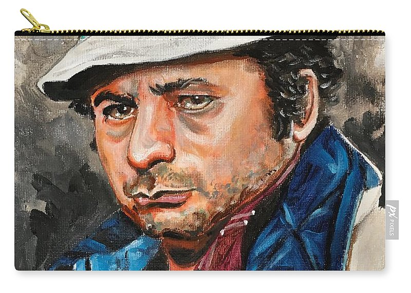 Paulie Carry-all Pouch featuring the painting Paulie by Joel Tesch
