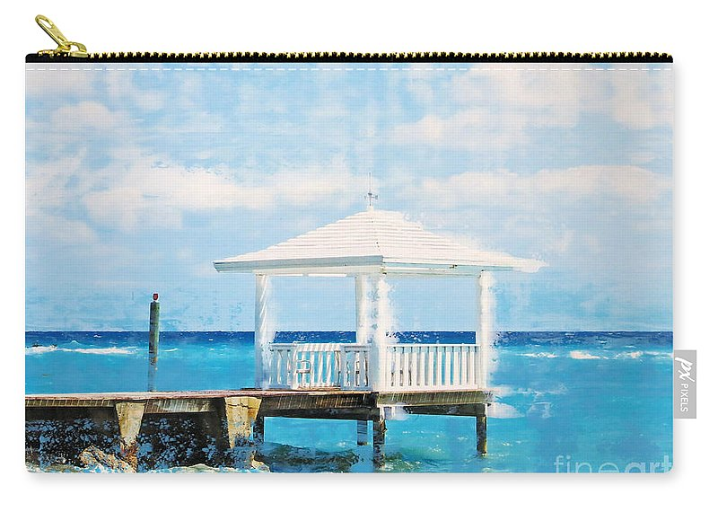 America Carry-all Pouch featuring the mixed media Pavillion by Nica Art Studio