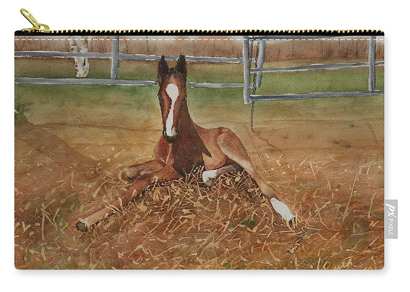 Colt Carry-all Pouch featuring the painting Pavlo's First Day by Ruth Kamenev