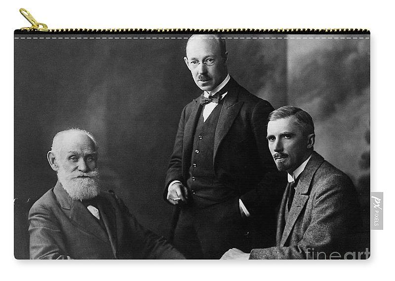 History Carry-all Pouch featuring the photograph Pavlov, Anrep, Babkin by Wellcome Images