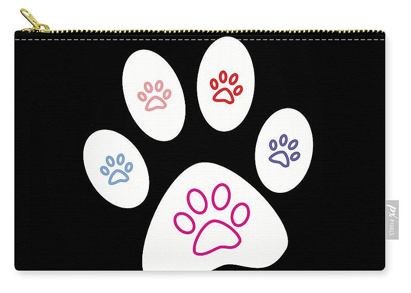 women's Fashion girl's Fashion Fashion men's Fashion Dogs Carry-all Pouch featuring the photograph Paws by Bill Owen