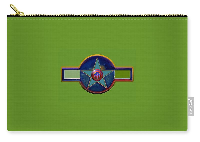 Usaaf Insignia Carry-all Pouch featuring the digital art Pax Americana Decal by Charles Stuart