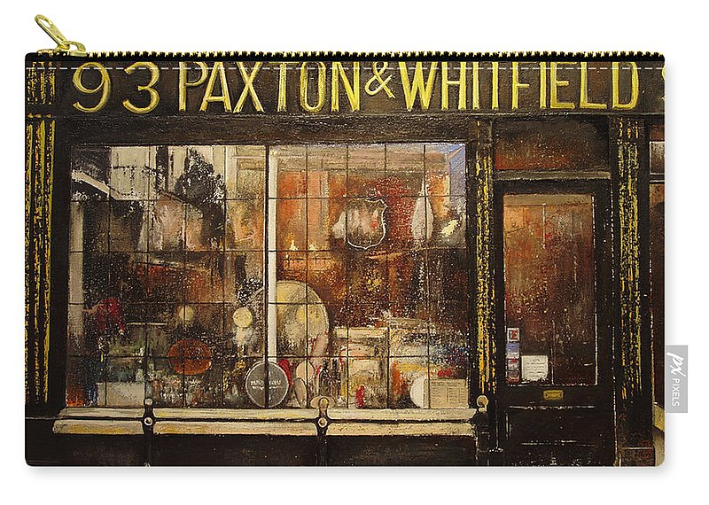 Paxton Carry-all Pouch featuring the painting Paxton Whitfield .london by Tomas Castano