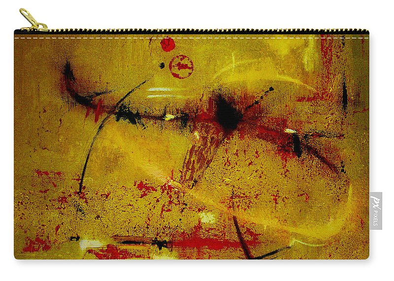 Abstract Carry-all Pouch featuring the painting Pay More Careful Attention by Ruth Palmer