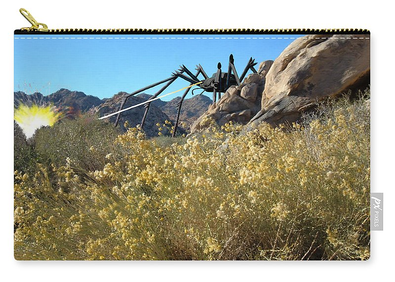 Spider Carry-all Pouch featuring the digital art Payback by Snake Jagger