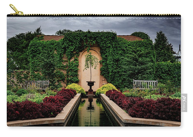 Fountain Carry-all Pouch featuring the photograph Payne Fountain by Drake Rekowski