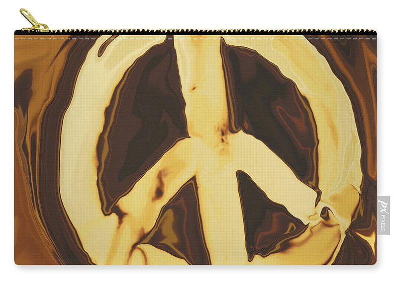 Freedom Carry-all Pouch featuring the digital art Peace 2 by Rabi Khan