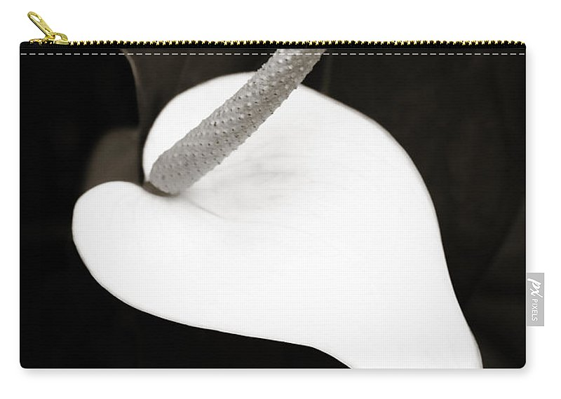 Peace Lily Carry-all Pouch featuring the photograph Peace And Love by Marilyn Hunt