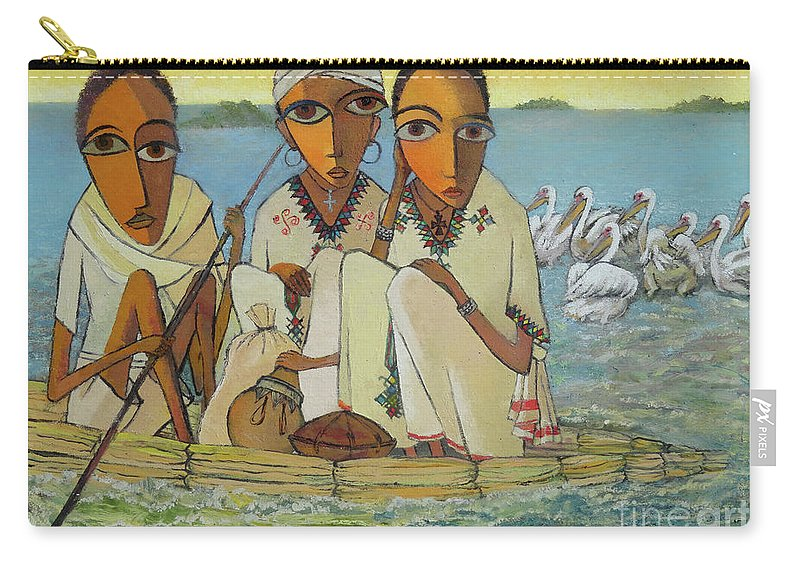 Carry-all Pouch featuring the painting Peace And Serenity by Yoseph Abate
