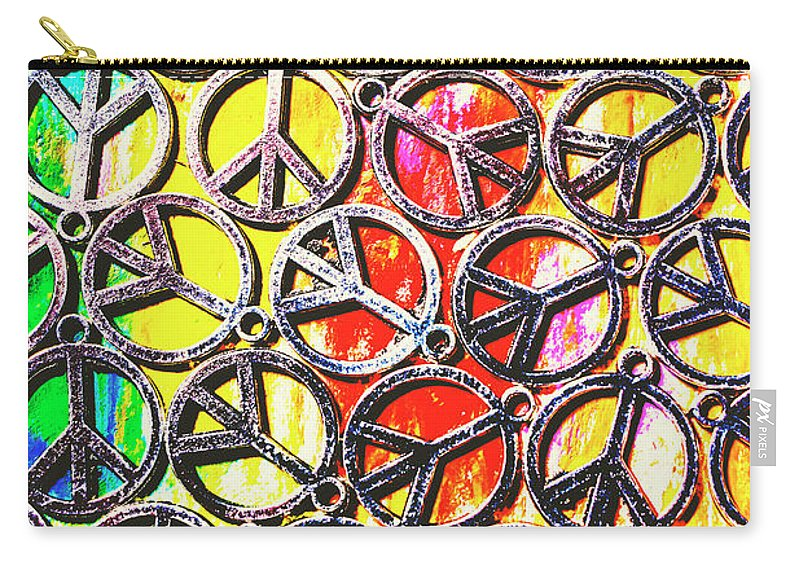 Peace Carry-all Pouch featuring the photograph Peace In All Colours by Jorgo Photography - Wall Art Gallery