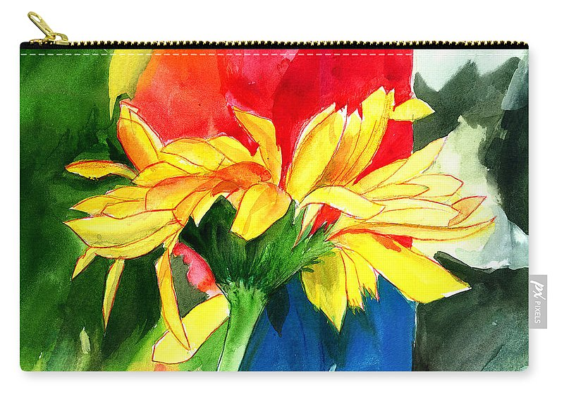 Peace Carry-all Pouch featuring the painting Peace Square by Anil Nene