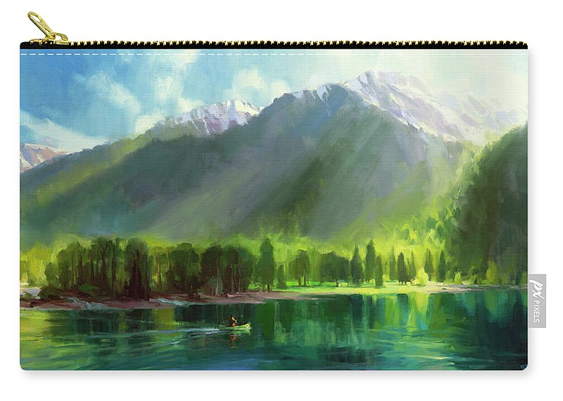 Mountains Carry-all Pouch featuring the painting Peace by Steve Henderson