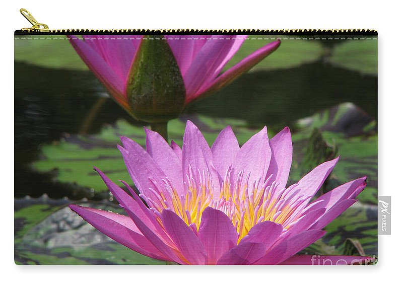 Lillypad Carry-all Pouch featuring the photograph Peaceful by Amanda Barcon