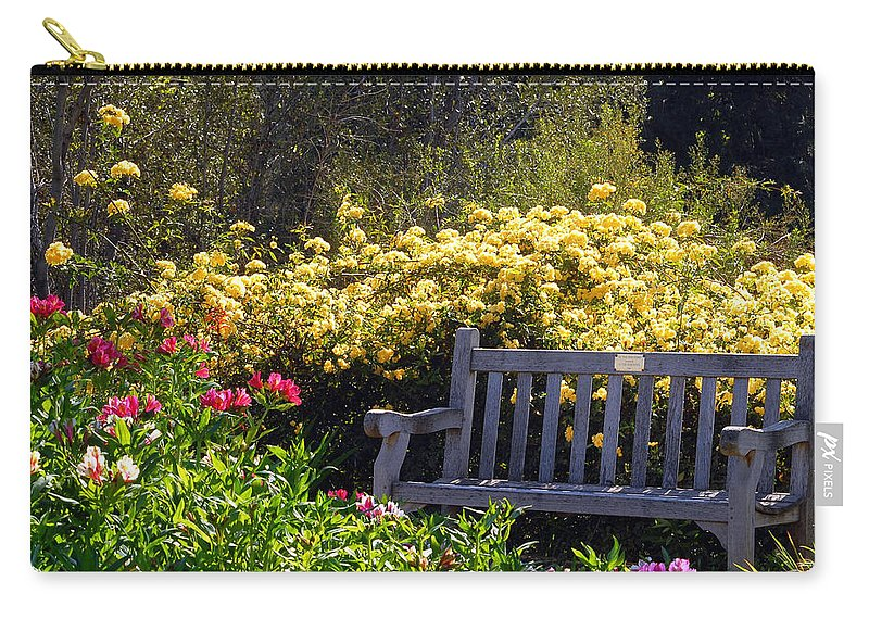 Flowers Carry-all Pouch featuring the photograph Peaceful by Amy Fose