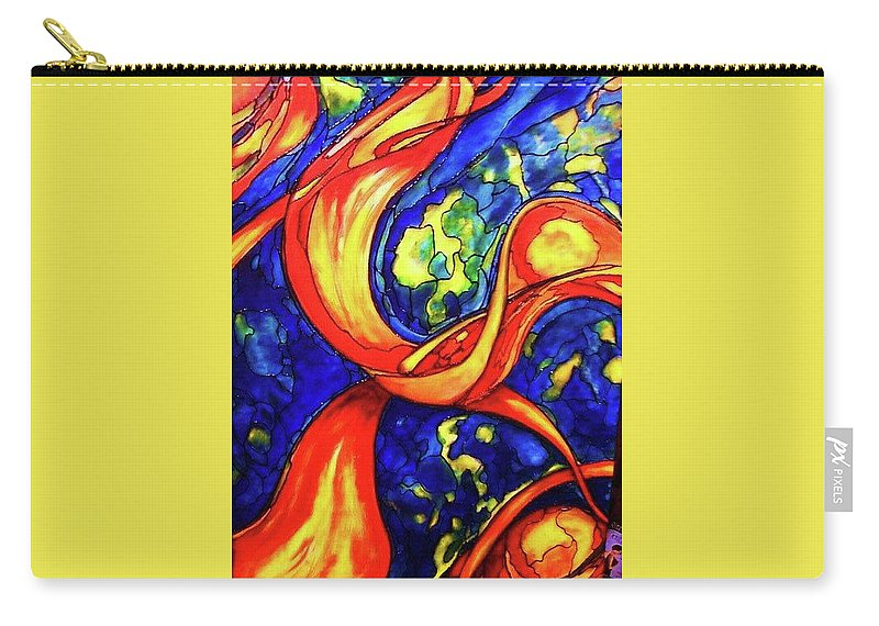 Original Art Carry-all Pouch featuring the painting Peaceful Coexistence by Rae Chichilnitsky