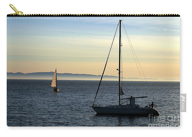 Clay Carry-all Pouch featuring the photograph Peaceful Day In Santa Barbara by Clayton Bruster