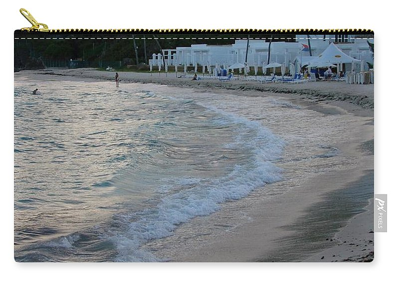 Dawn Beach Carry-all Pouch featuring the photograph Peaceful Evening On Dawn Beach by Margaret Bobb