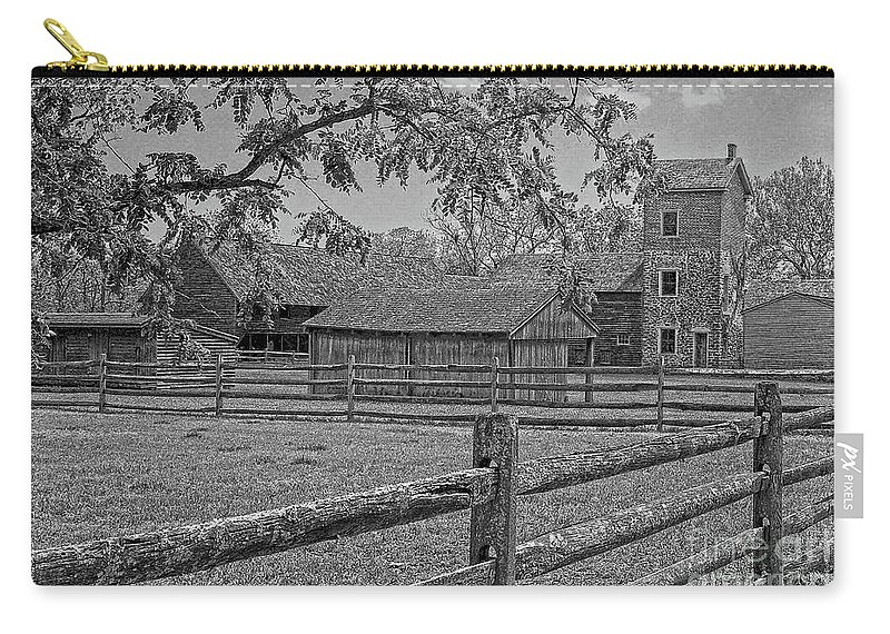 Peaceful Farm Carry-all Pouch featuring the photograph Peaceful Farm by Sharon Mayhak