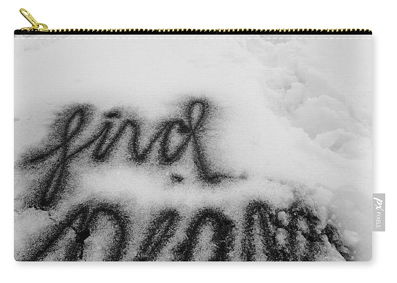 Snow Carry-all Pouch featuring the photograph Peaceful Find by Trish Hale