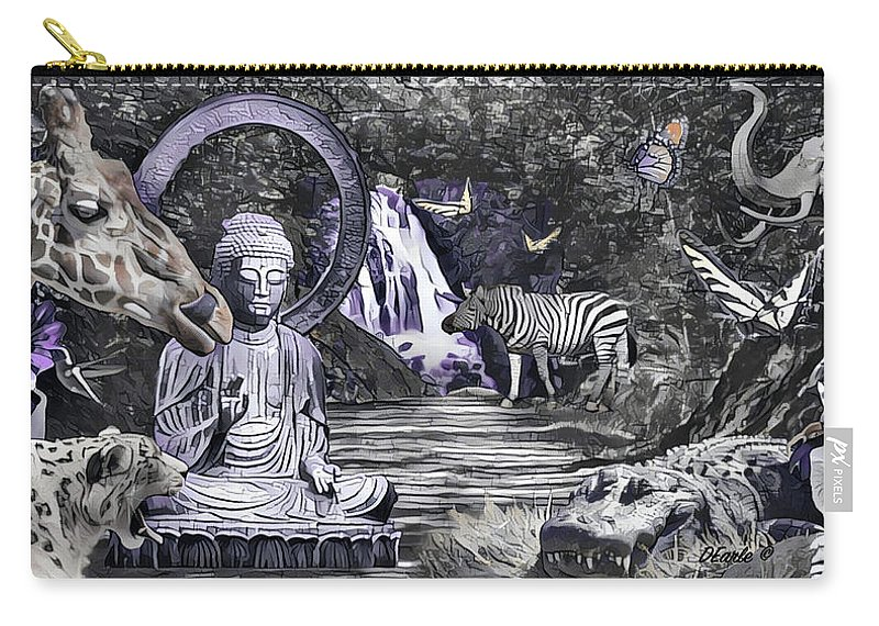 Buddha Carry-all Pouch featuring the photograph Peaceful Garden by Dan Earle