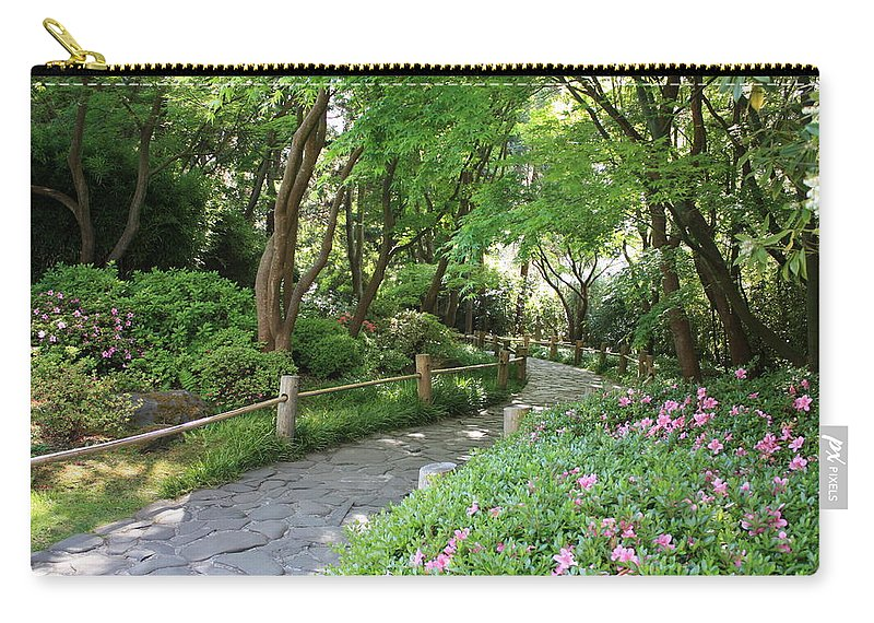 Garden Path Carry-all Pouch featuring the photograph Peaceful Garden Path by Carol Groenen