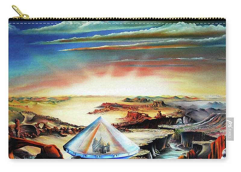 Carry-all Pouch featuring the painting Peaceful Gathering by Ilona Van Hoek