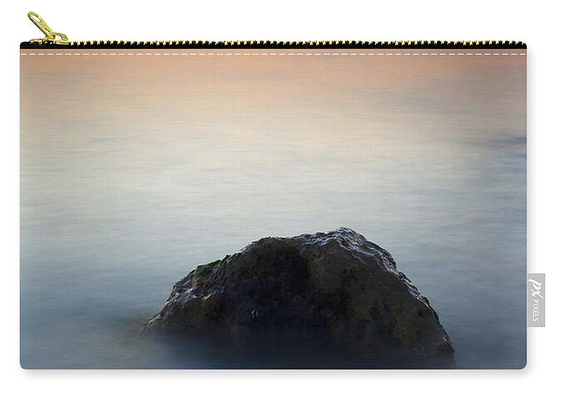 Rock Carry-all Pouch featuring the photograph Peaceful Isolation by Mike Dawson