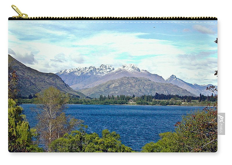 Lake Carry-all Pouch featuring the photograph Peaceful Lake -- New Zealand by Douglas Barnett
