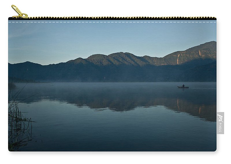 Volcano Carry-all Pouch featuring the photograph Peaceful Lake Atitlan Guatemala 2 by Douglas Barnett