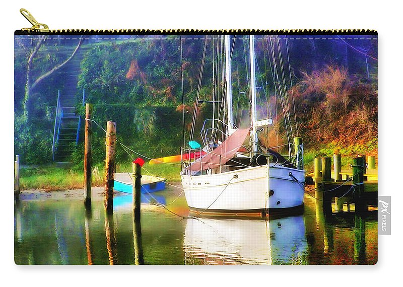 2d Carry-all Pouch featuring the photograph Peaceful Morning In The Cove by Brian Wallace
