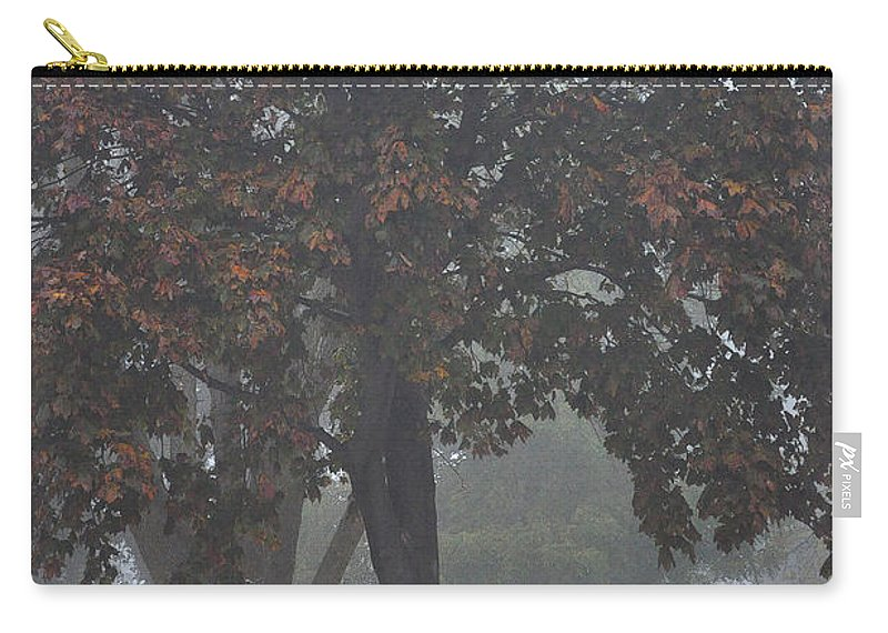 Fall Carry-all Pouch featuring the photograph Peaceful Morning Mist by Tim Nyberg