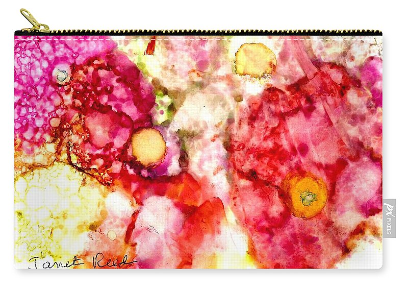 Alcohol Inks Carry-all Pouch featuring the painting Peaceful Place by Janet Reed